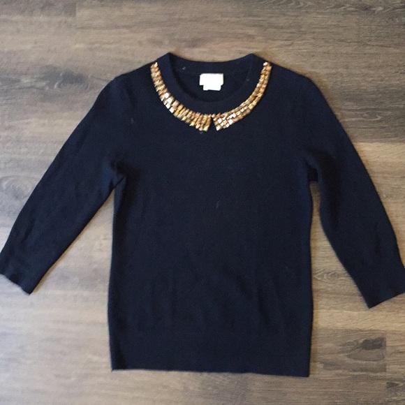 kate spade Sweaters - Kate Spade Sweater Black Wool/Cashmere Sz S